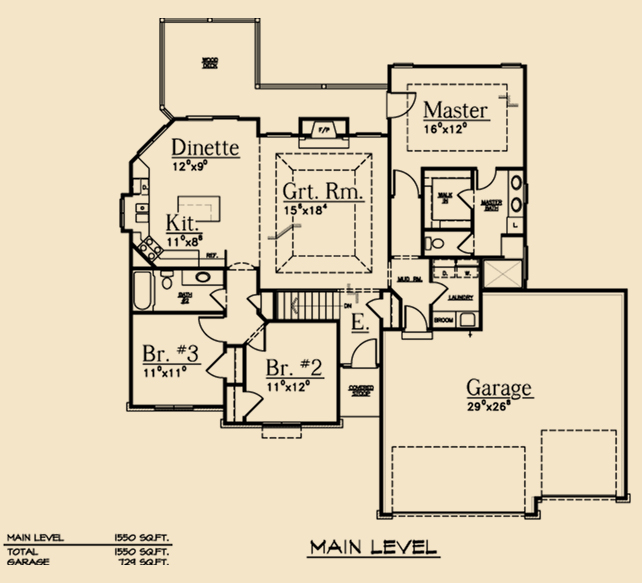 Split bedroom ranch dream scape homes Split bedroom ranch house plans